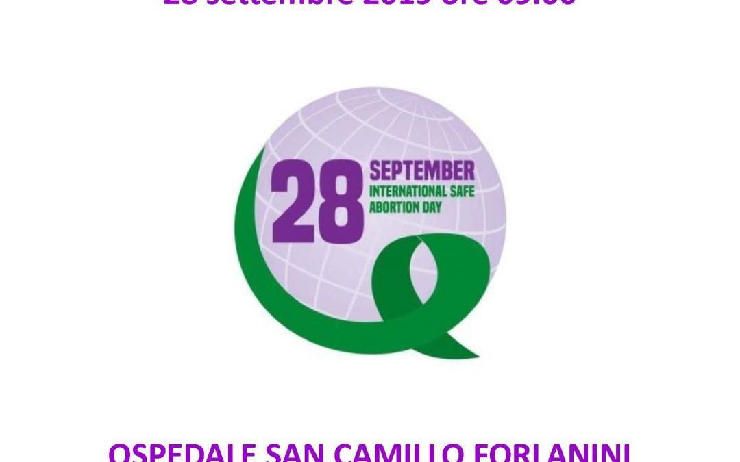 Comunicato stampa. Aborto. Al San Camillo di Roma un congresso di formazione e discussione nella Giornata mondiale dell'aborto sicuro