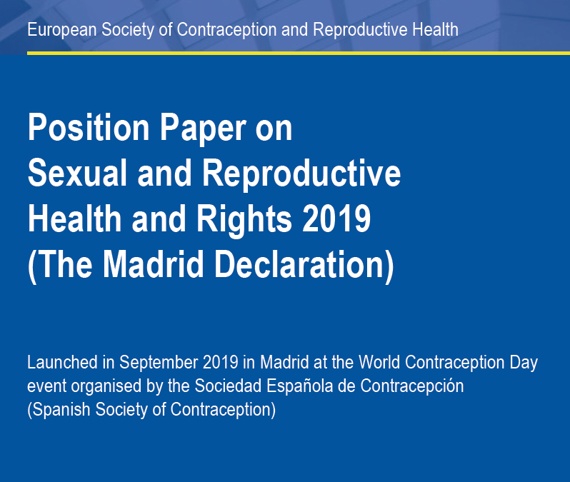 ESC: Position paper on Sexual and Reproductive Health and rights