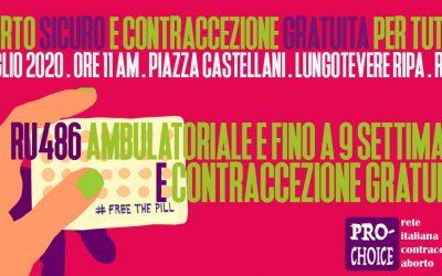 2 luglio 2020 presidio al Ministero della salute per aborto farmacologico e contraccezione gratuita