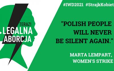 8 marzo 2021 campagna Women's Strike (Strajk Kobiet)